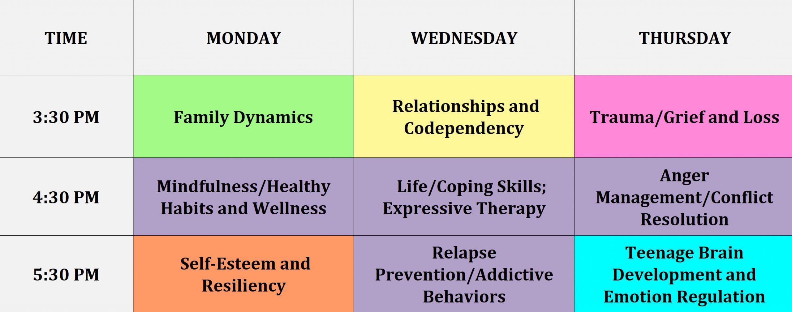 IOP schedule